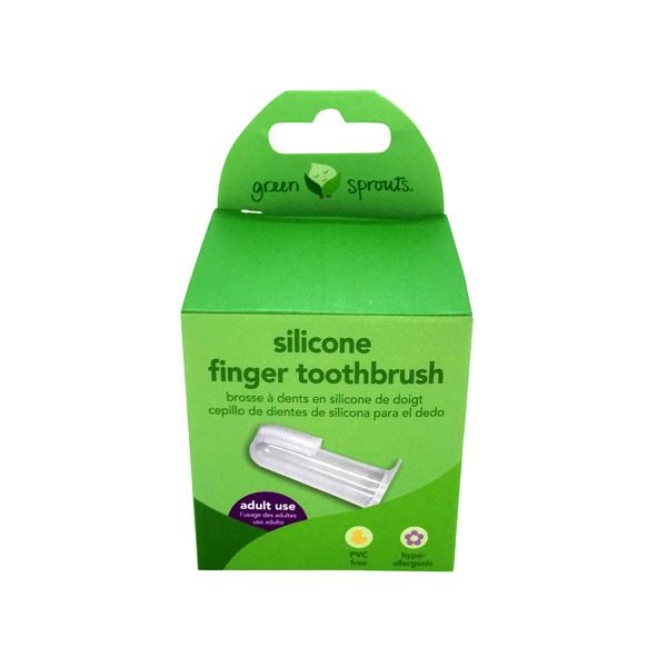 i play Green Sprouts Silicone Finger Toothbrush Stage 2 3