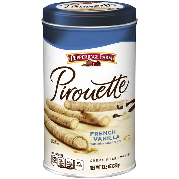 Pepperidge Farm Cookies Pirouette French Vanilla Creme Filled Wafers
