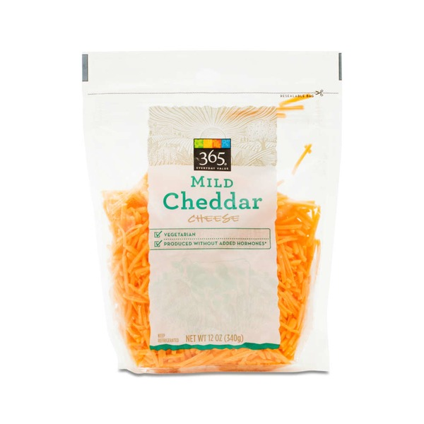 365 Shredded Mild Cheddar Cheese