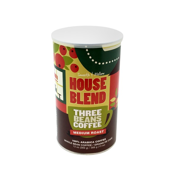 Three Beans Coffee House Blend Whole Bean Coffee