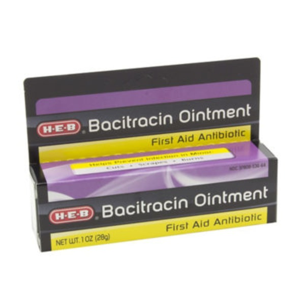 H-E-B Bacitracin Ointment First Aid Antibiotic