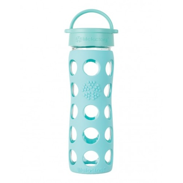 Lifefactory Glass Bottle w/ Sleeve Turquoise