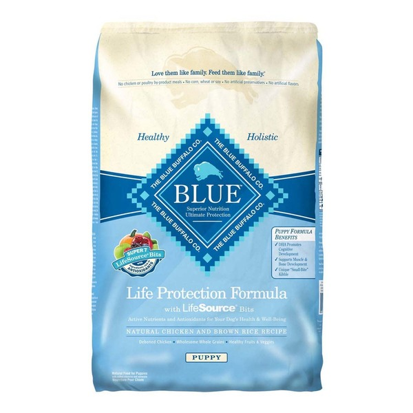 Blue Buffalo Food for Puppies, Natural, Life Protection Formula, Puppy, Chicken and Brown Rice Recipe