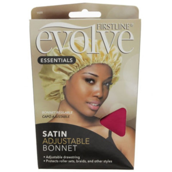 Evolve Adjustable Drawstring Satin Bonnet