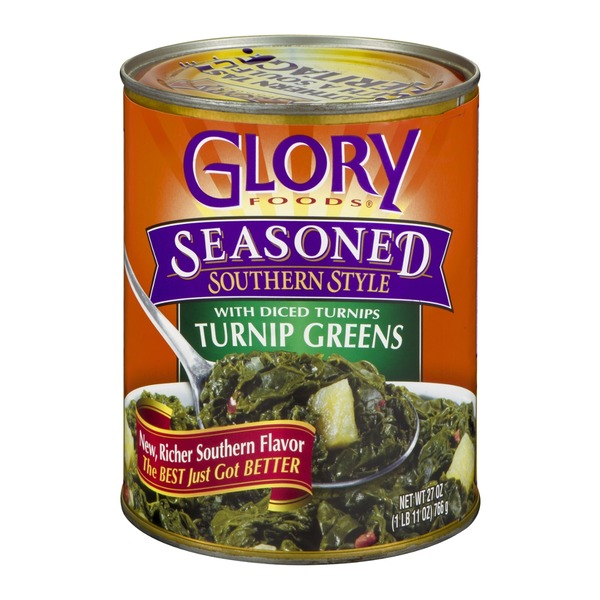 Glory Foods Turnip Greens with Diced Turnips Seasoned Southern Style