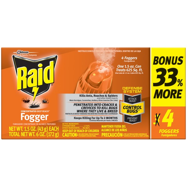 Raid Concentrated Deep Reach Fogger Insecticide