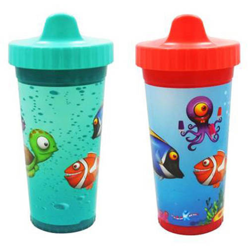 USA Kids UnderSea Fish Insulated Sippy Cups BPA-Free