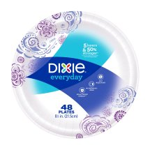 Dixie Everyday Paper Plates, 8.5', 48 Count