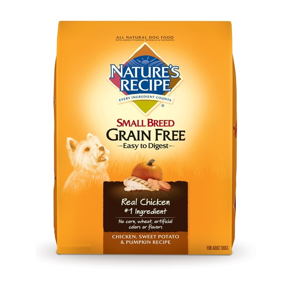 Nature's Recipe Grain Free Chicken Sweet Potato & Pumpkin Small Breed Dog Food