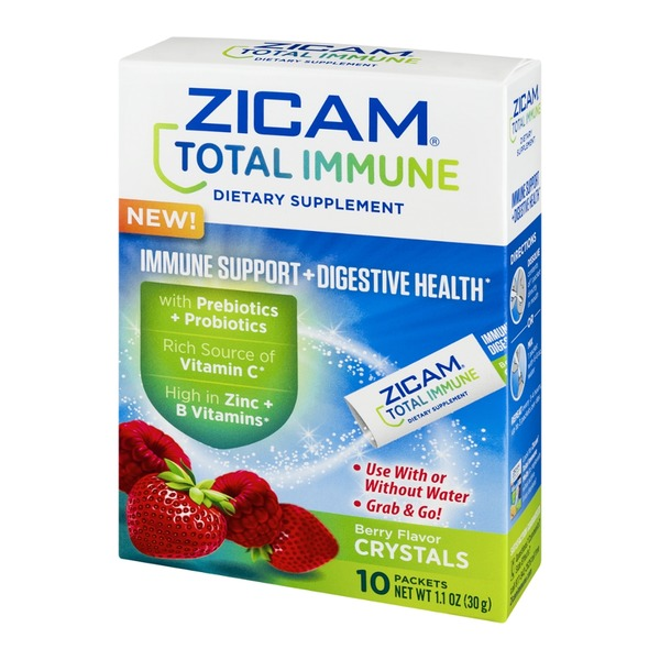 Zicam Total Immune Dietary Supplement Packets Berry - 10 CT