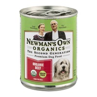 Newman's Own Premium Dog Food Organic Beef