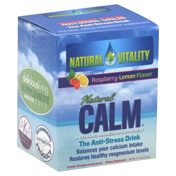 Natural Vitality Natural Calm, Raspberry-Lemon Flavor