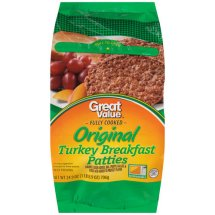 Great Value Turkey Breakfast Patties, 24.92 Oz