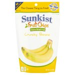 Sunkist Banana Slices, Crunchy Freeze Dried Fruit Chips, 1.4 oz