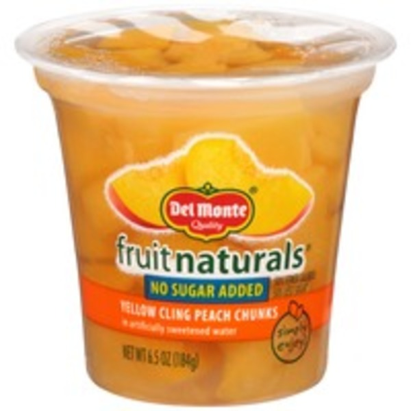 Fruit Naturals Yellow Cling in Artificially Sweetened Water Peach Chunks