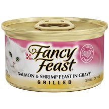 Purina Fancy Feast Grilled Salmon & Shrimp Feast in Gravy Cat Food 3 oz. Can