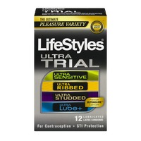LifeStyles Ultra Trial Lubricated Latex Condoms - 12 CT