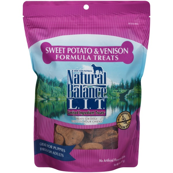 Natural Balance L.I.T Sweet Potato & Venison Formula Dog Treats