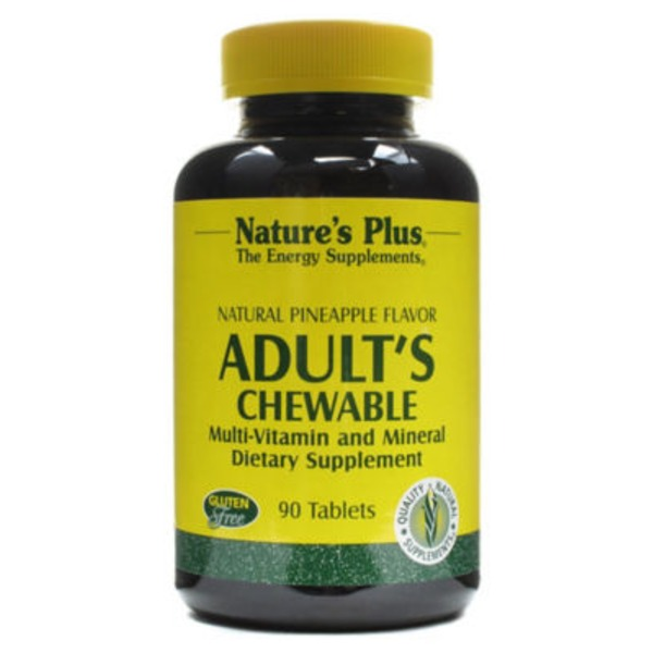 Nature's Plus Plus Adult's Chewable Multi Vitamin And Mineral Natural Pineapple Flavor