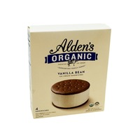 Alden's Ice Cream Organic Vanilla Bean Ice Cream Sandwich
