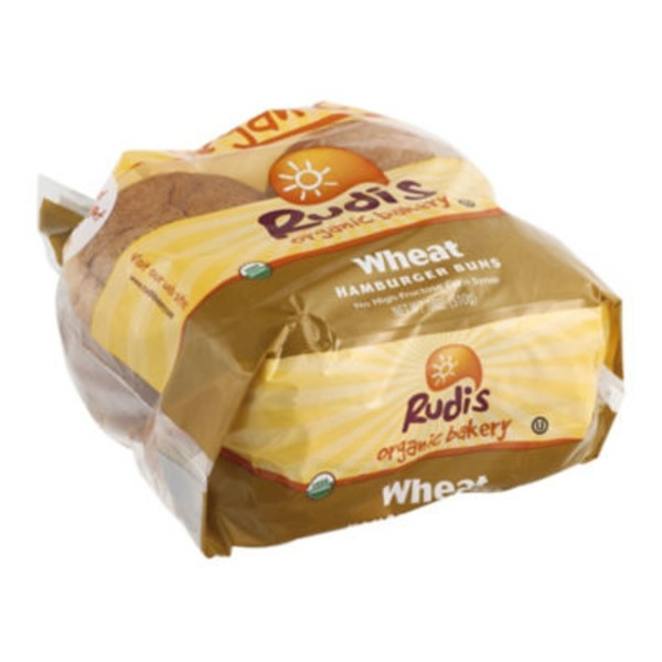 Hamburger Buns, Organic, 100% Whole Wheat