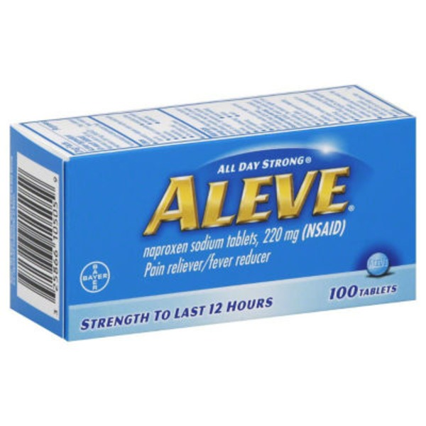 Aleve Naproxen Sodium 220mg Tablets Pain Reliever/Fever Reducer