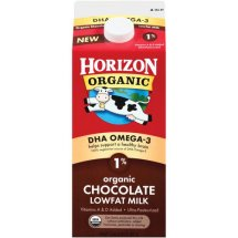 Horizon Organic Chocolate Lowfat Milk, 0.5 gal
