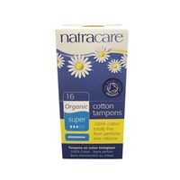 Natracare Organic Super Cotton Tampons With Applicator
