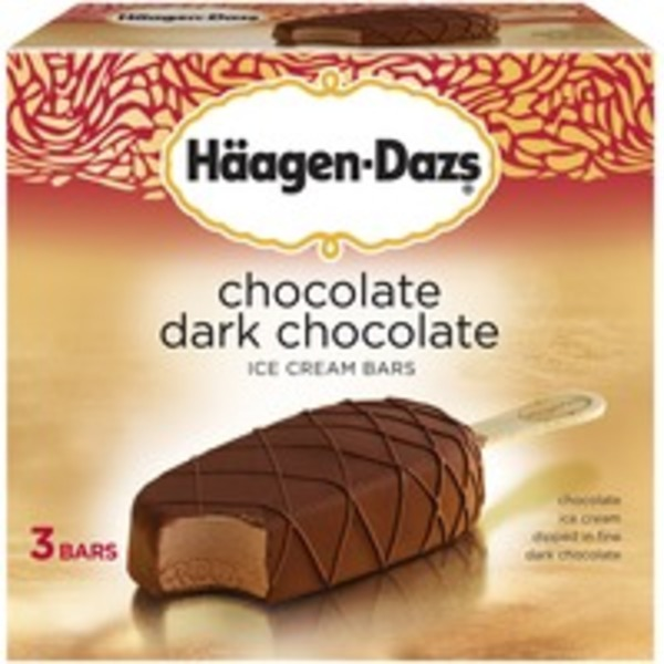 Haagen-Dazs Chocolate Dark Chocolate Ice Cream Bars