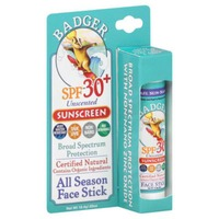 Badger Unscented Sport Broad Spectrum SPF 35, All Season Face Stick