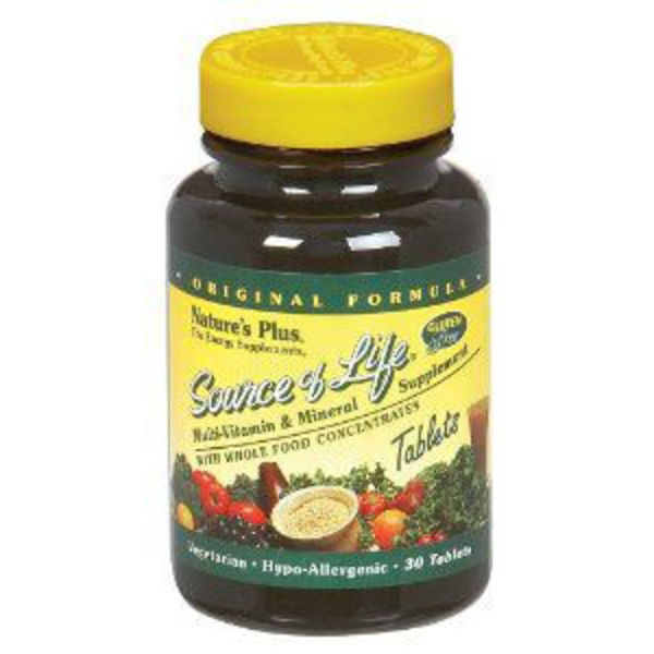 Nature's Plus Source Of Life Multi Vitamin & Mineral Supplement Tablets
