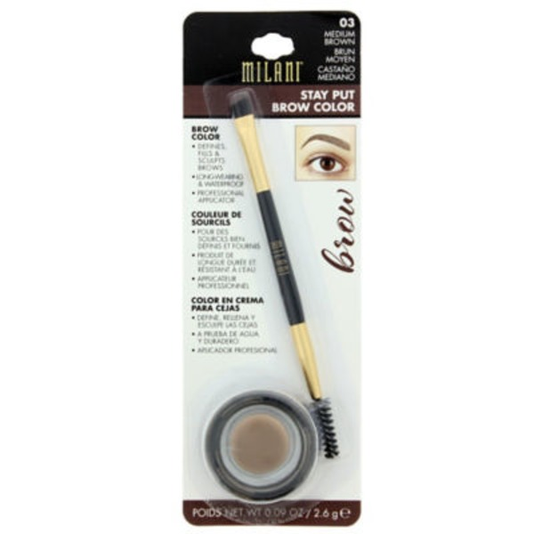 Milani Stay Put Brow Color, Medium Brown