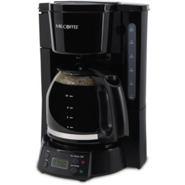 Mr. Coffee 12 Cup Black Programmable Coffee Maker
