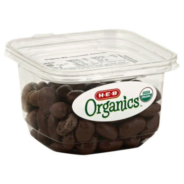 H-E-B Organics Milk Chocolate Almonds