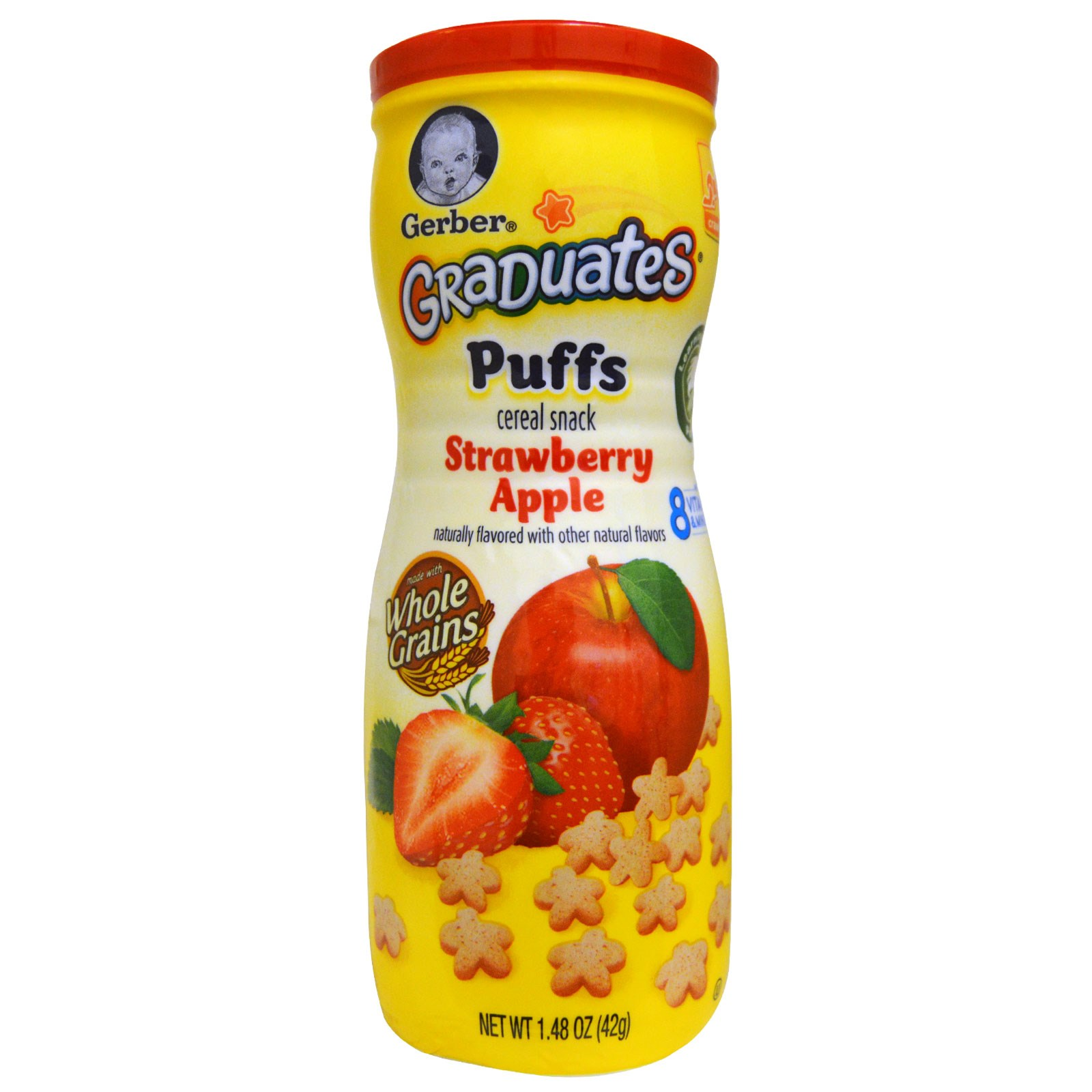 Gerber Puffs Strawberry Apple Snack Cup