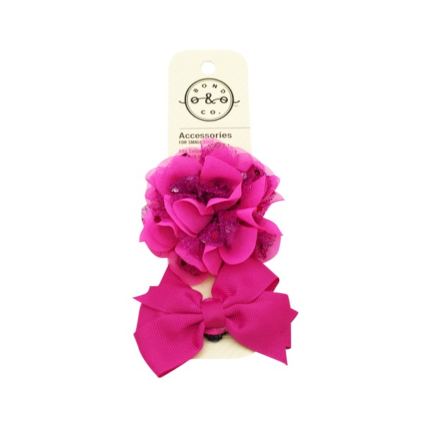 Bond & Co Flower Bow Pink