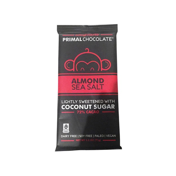 Eating Evolved Almond And Sea Salt Chocolate Bar