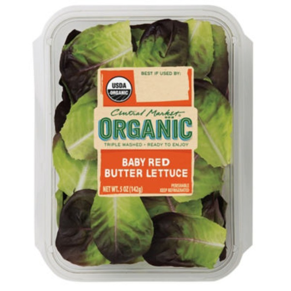 Central Market Organic Baby Red Butter Lettuce
