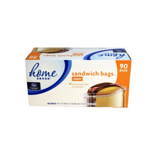 Kroger Home Sense Sandwich Bags Zipper