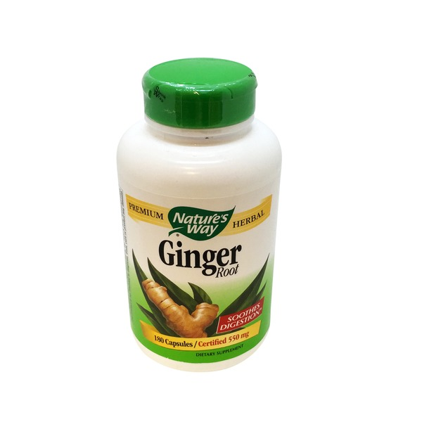 Nature's Way Ginger Root, Certified 550 mg, Capsules