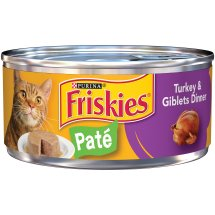 Purina Friskies Classic Pate Turkey & Giblets Dinner Cat Food 5.5 oz. Can