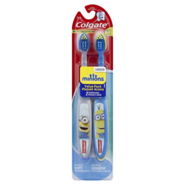 Colgate Extra Soft Minions Ages 5+ Value Pack Toothbrushes