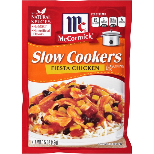 McCormick Slow Cookers Fiesta Chicken Seasoning Mix