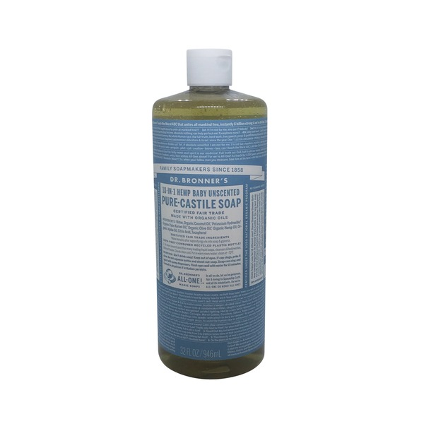 Dr. Bronner's All-One! Dr. Bronner's 18-In-1 Hemp Baby Unscented Pure-Castile Soap