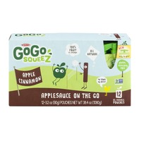 Materne GoGo Squeez Applesauce On The Go Re-Sealable Pouches Apple Cinnamon