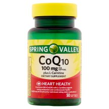 Spring Valley Co Q-10 plus L-Carnitine Softgels, 50 Ct