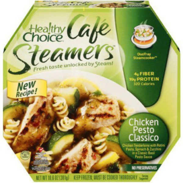 Healthy Choice Grilled Chicken Pesto with Vegetables Cafe Steamers
