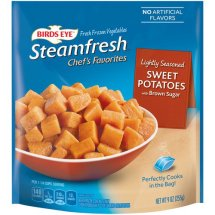 Birds Eye Steamfresh Chef's Favorites Lightly Seasoned Sweet Potatoes with Brown Sugar, 9 oz
