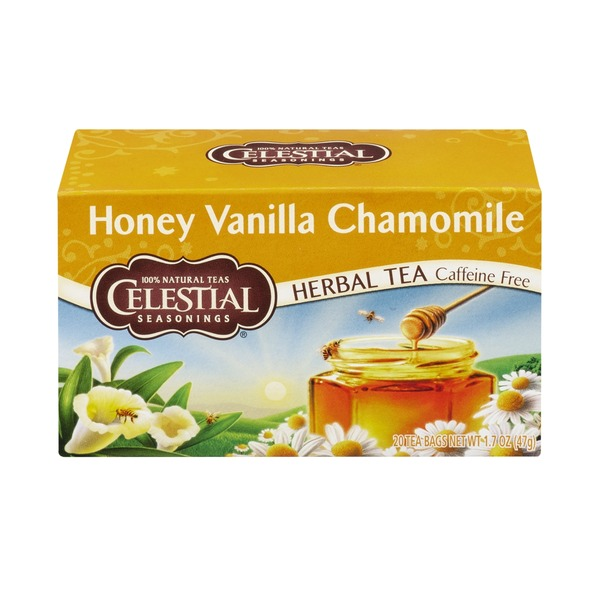 Celestial Seasonings Honey Vanilla Chamomile Herbal Tea, Caffeine Free