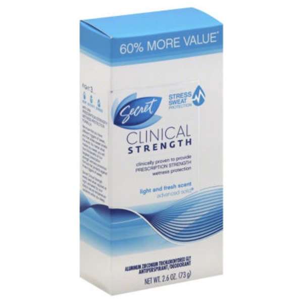 Secret Clinical Strength Smooth Solid Women's Antiperspirant & Deodorant Light & Fresh Scent